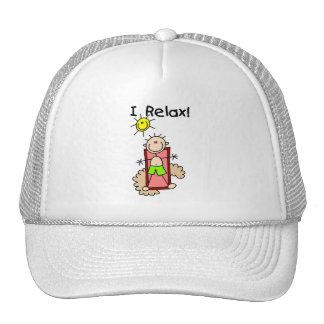 Stick Figure Boy I Relax Mesh Hat