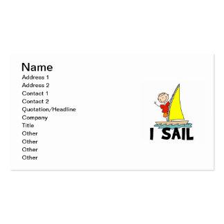 Stick Figure Boy I Sail Business Cards