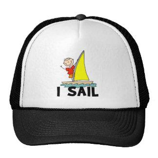 Stick Figure Boy I Sail Trucker Hat