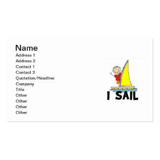 Stick Figure Boy I Sail Pack Of Standard Business Cards