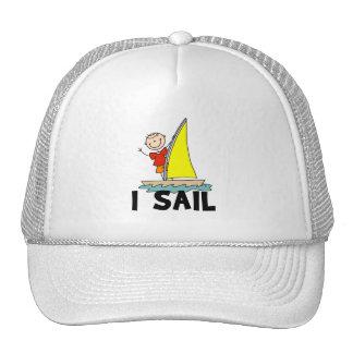 Stick Figure Boy I Sail Trucker Hats
