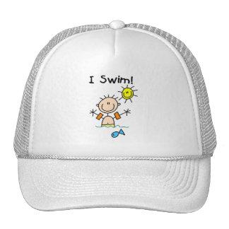 Stick Figure Boy I Swim Mesh Hat