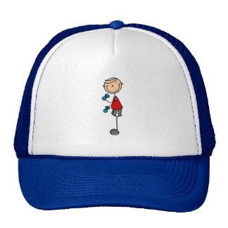 Stick Figure Boy Lifting Hat