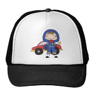 Stick Figure Boy Race Car Driver Tshirts Hats