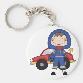Stick Figure Boy Race Car Driver Tshirts Keychain