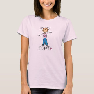 Stick Figure Breast Cancer Support T-Shirt