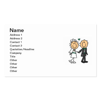 Stick Figure Bride and Groom T-shirts and Gifts Business Card