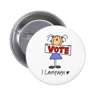 Stick Figure Campaign Button