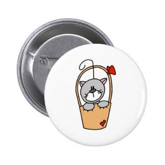 Stick Figure Cat Button