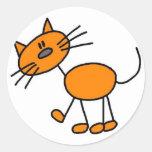 Stick Figure Cat Sticker