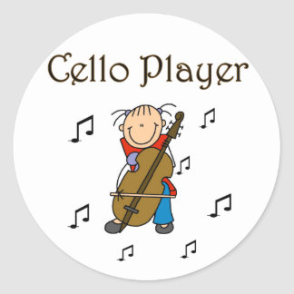 Stick Figure Cello Player Stickers Sticker