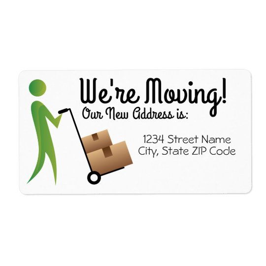 Stick Figure Change of Address Label