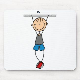 Stick Figure Chin Up Mousepad