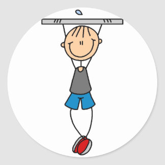 Stick Figure Chin Ups Sticker