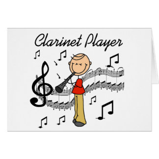 Stick Figure Clarinet Player Tshirts and Gifts Greeting Card