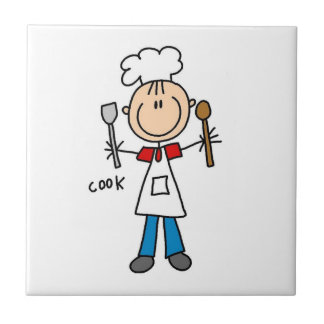 Stick Figure Cook Tile