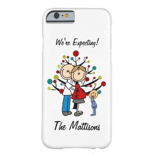 Stick Figure Couple Boy Expecting Custom iPhone 6 Barely There iPhone 6 Case