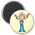 Stick Figure Cowgirl Sheriff Tshirts Magnets
