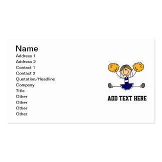 Stick Figure CustomizedT-shirts and Gifts Business Card Template