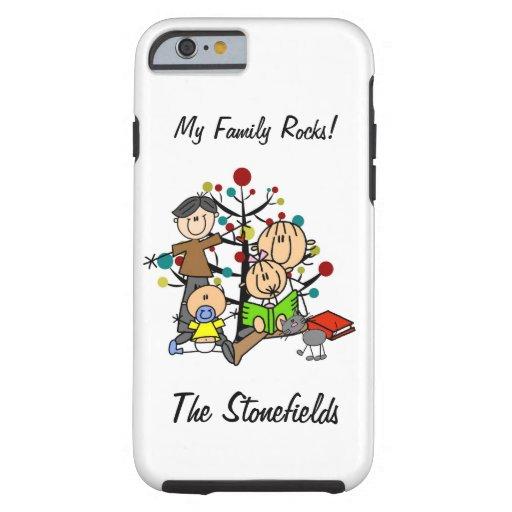 Stick Figure Dad, Mom, Girl, Boy, Cat iPhone 6 Tough iPhone 6 Case