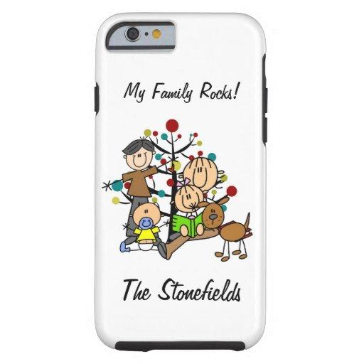 Stick Figure Dad, Mom, Girl, Boy, Dog iPhone 6 Tough iPhone 6 Case