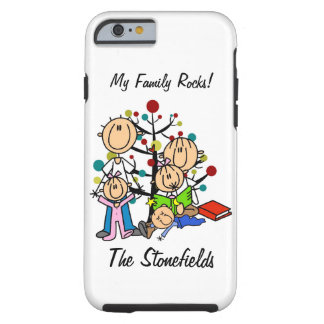 Stick Figure Dad, Mom, Two Girls, Boy iPhone 6 Tough iPhone 6 Case
