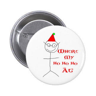 Stick Figure Dan Christmas Shirt Pins