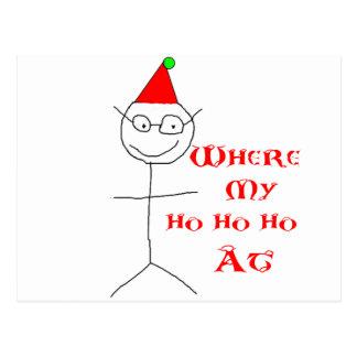 Stick Figure Dan Christmas Shirt Postcard