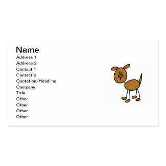 Stick Figure Dog T-shirts and Gifts Pack Of Standard Business Cards