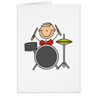 Stick Figure Drummer Card
