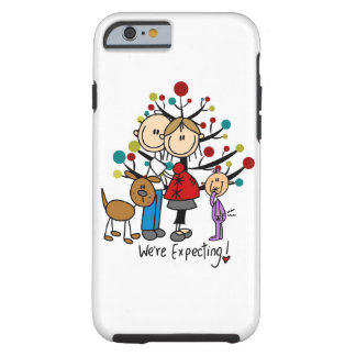 Stick Figure Expectant Couple, Girl, Dog iPhone 6 Tough iPhone 6 Case