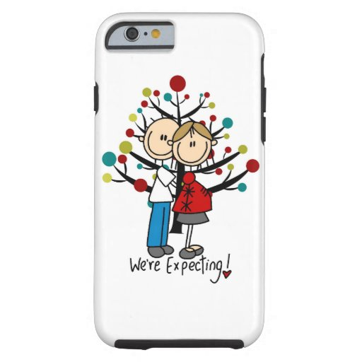 Stick Figure Expectant Couple iPhone 6 iPhone 6 Case