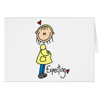 Stick Figure Expecting Baby Greeting Card