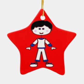 Stick Figure Family (Dad) Christmas Ornament