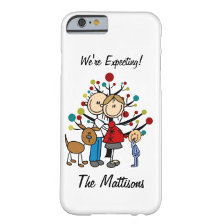 Stick Figure Family Dog Expecting Custom iPhone 6 Barely There iPhone 6 Case