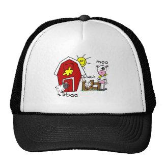 Stick Figure Farm Animals Trucker Hats
