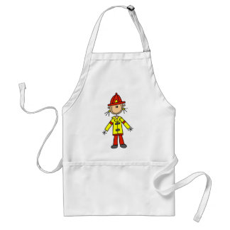 Stick Figure Firefighter Apron