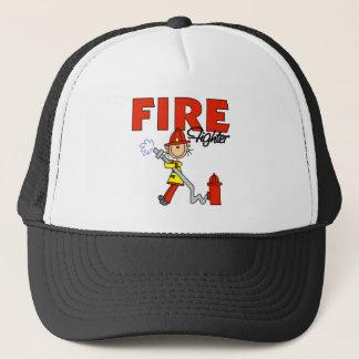 Stick Figure Firefighter Baseball Cap