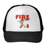 Stick Figure Firefighter Baseball Cap Mesh Hat