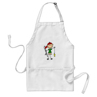 Stick Figure Fishing Tshirts and Gifts Adult Apron