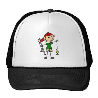 Stick Figure Fishing Tshirts and Gifts Mesh Hats