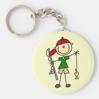 Stick Figure Fishing Tshirts and Gifts Key Chain