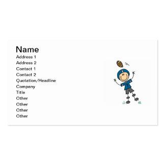 Stick Figure Football Blue Pack Of Standard Business Cards