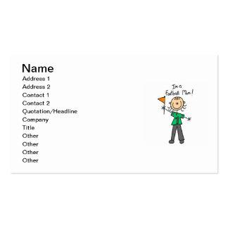Stick Figure Football Mom Business Card Template