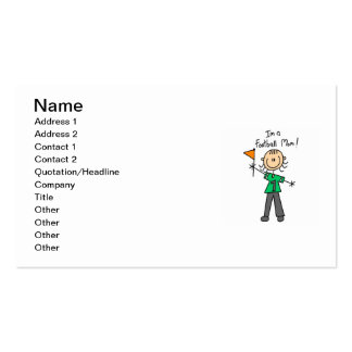 Stick Figure Football Mom Pack Of Standard Business Cards