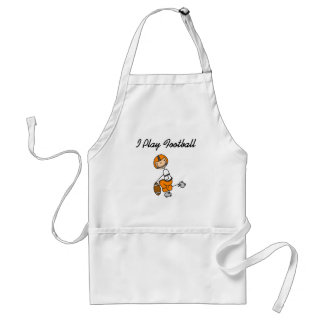Stick Figure Football - Orange Tshirts and Gifts Aprons