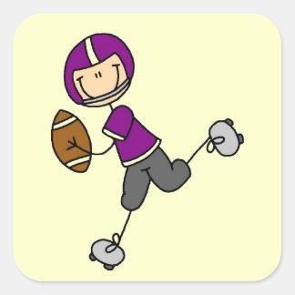 Stick Figure Football Purple Stickers