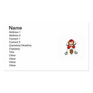 Stick Figure Football Red Pack Of Standard Business Cards