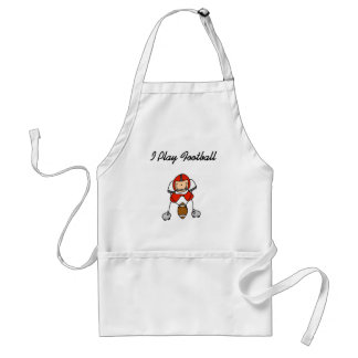 Stick Figure Football - Red Tshirts and Gifts Apron
