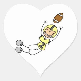 Stick Figure Football Yellow Sticker